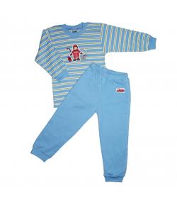 Scamp- 2 részes csíkos, tűzoltós filmnyomással díszített fiú pizsama 92-es