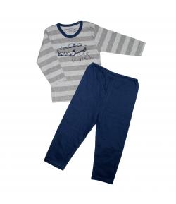 Minimanó - 2 részes autó filmnyomással díszített fiú pizsama 92-es