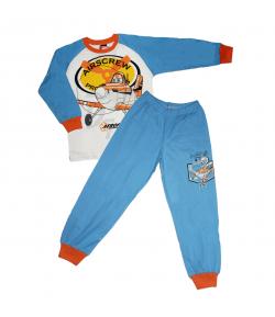 Pampress - 2 részes meséből ismert repcsi filmnyomással díszített fiú pizsama 116-122-es