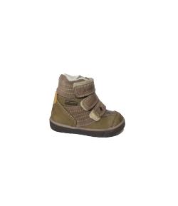 Szamos - Keki -v. barna színű 3 tépő , belül szőrmebéléses bőrcipő 19-es