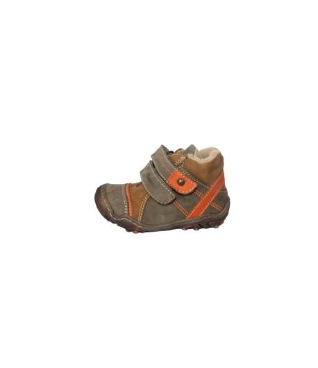 Szamos - Keki-barna -narancs színű 2 tépős fiú bőrcipő többféle méretben