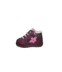 Richter -Padlizsán lila velúr baba cipő többféle méretben