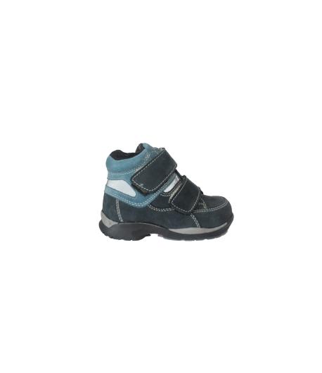 Siesta- kék színű nubuk/velúr, belül szőrmés fiú cipő 20-as