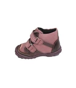 Siesta- Tüdő -lila színű, csiszolt bőr és velúr anyagból készült kislány cipő meleg béléssel ellátva