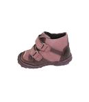 Siesta- Tüdő -lila színű, csiszolt bőr és velúr anyagból készült kislány cipő meleg béléssel ellátva 22-es