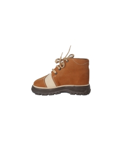 Marci cipő - barna-drapp színű fiú, átmeneti cipő 24-es