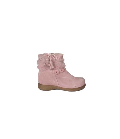 Almarino - Rózsaszín átmeneti cipő rávarrt bőr díszítéssel 24-es