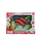 Zöldség és konyhai eszköz szett