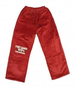 Király G. - Tégla piros színű fiús microkord bélelt nadrág