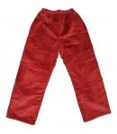 Király G. - Tégla piros színű fiús microkord bélelt nadrág 128-as