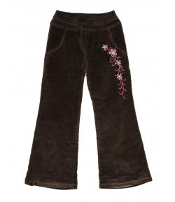 Brando 2000 - Sötét keki színű microkord, bélelt bársony nadrág 128-as