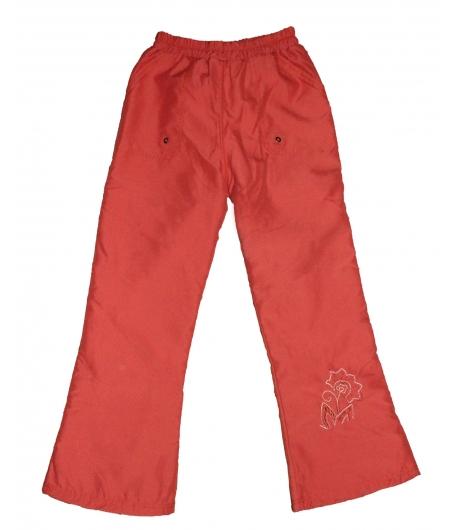 Tillisz Bt- Tégla színű polárral bélelt kislány nadrág 134-es