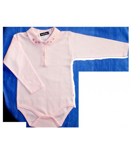 Bambibel hosszú galléros v.rózsaszín kombidressz 104-es