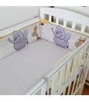 Király G. Fejvédő babaágyba 190 cm - szafaris 4 színben