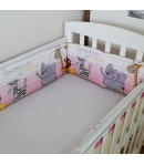 Fejvédő babaágyba 190 cm - szafaris 4 színben /Király G./