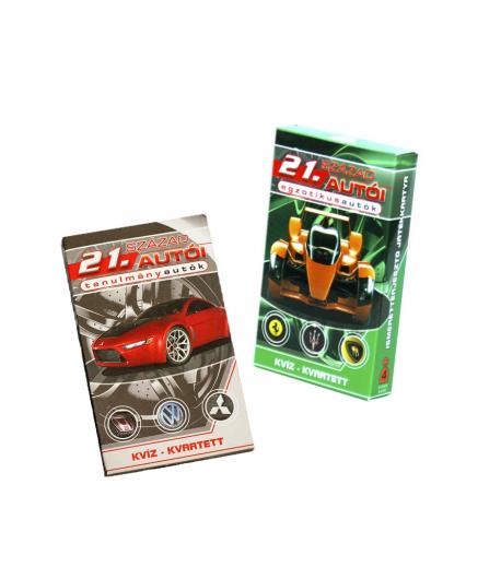 Kvíz - 21. század autói játékkártya