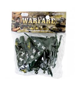 Műanyag katonai játékszett tasakban