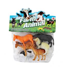 Farmon élő műanyag állatok tasakban