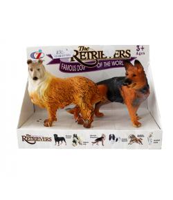 Műanyag kutyusok dobozban