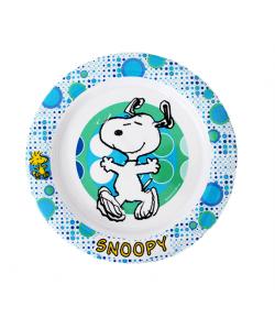 SNOOPY kék-fehér lapostányér