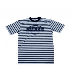 Unic- Sötétkék-fehér csíkos fiú póló 152-158
