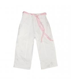 Lollipop - Fehér színű megkötős kislány halásznadrág