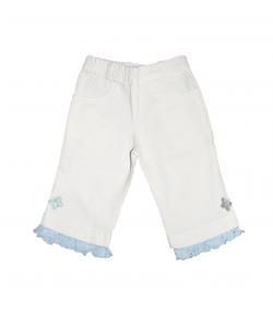 Fehér-kék kislány halásznadrág 98-as