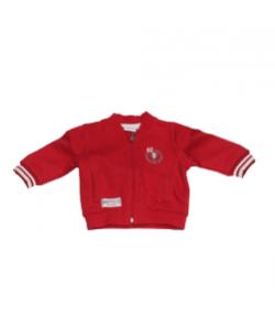 Mignolo - Piros színű, zipzáros baby pulcsi 3-6 hónap