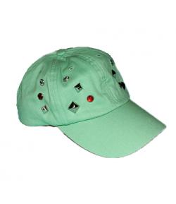 Zöld köves kislány baseball sapka