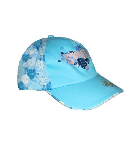 Kék virágos kislány baseball sapka