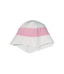 Fehér-rózsaszín kislány kalap