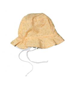 Sárga virágos kislány kalap
