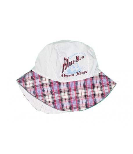Fehér- lila csíkos kislány kalap