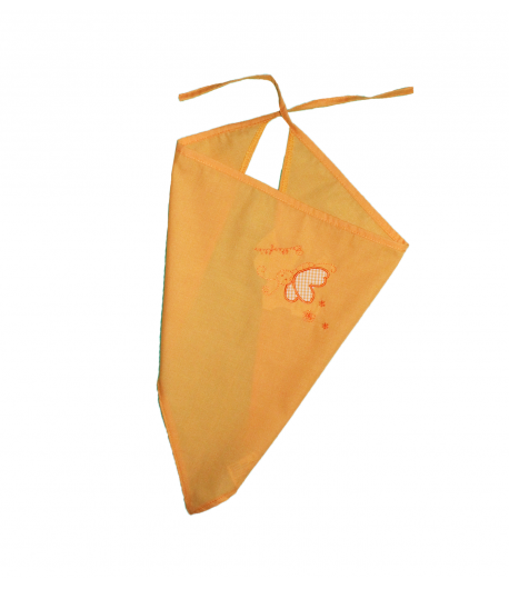 Sárga pillangós fejkendő