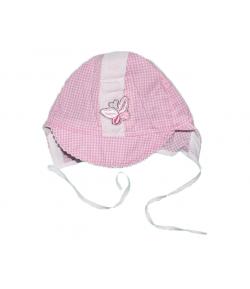 Rózsaszín kockás kislány kalap