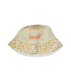 Fehér-sárga citrom mintás kislány kalap
