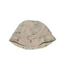Bézs virág mintás kislány kalap