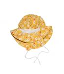 Sárga virág mintás kislány kalap