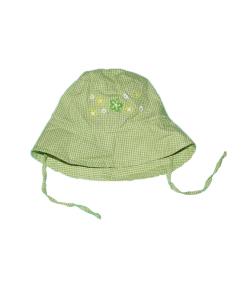 Zöld kockás kislány kalap