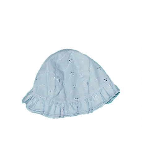 Kék madeirás kislány kalap