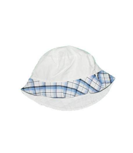 Fehér-kék csíkos fiú kalap