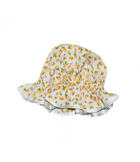 Sárga mintás kislány kalap