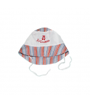 Fehér csíkos kislány kalap