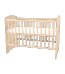 Nyitott kombinált gyermekágy - Borostyán 60 x 120-as