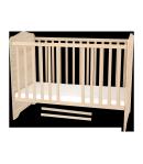 120 - as Zárt végű Gyermekágy Ágyneműtartós NIKI - Borostyán