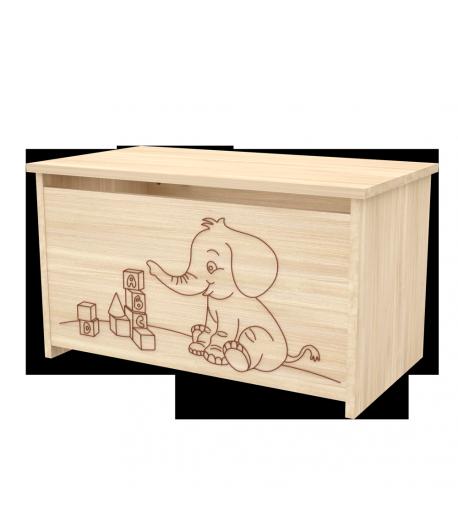 Elefántos játéktároló láda -Borostyán