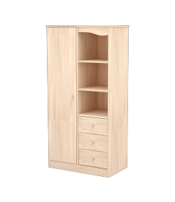 Egyajtós Háromfiókos szekrény - Borostyán