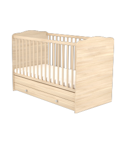 70 x 140-es Átalakítható Gyermekágy Ágyneműtartós NIKI - Borostyán