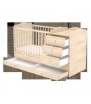 3 Fiókos kombinált gyermekágy - Borostyán 60 x 120-as