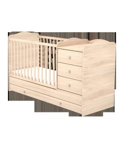 Kombinált 3 fiókos gyermekágy - Borostyán